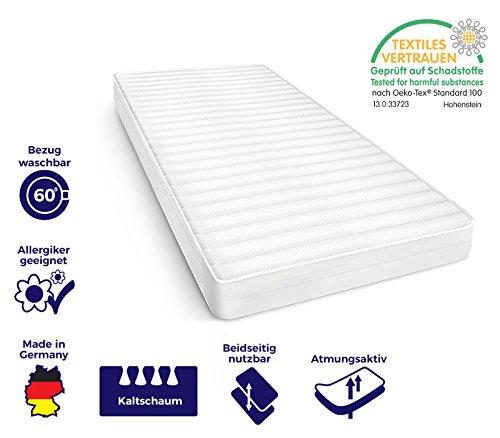 ko tex 100 zertifiziert bezug waschbar bis 60 grad kaltschaummatratze mit 7 zonenschnitt. Black Bedroom Furniture Sets. Home Design Ideas