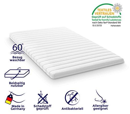 mister sandman kaltschaum matratzenschutz topper f r boxspringbett matratze mikrofaserbezug. Black Bedroom Furniture Sets. Home Design Ideas